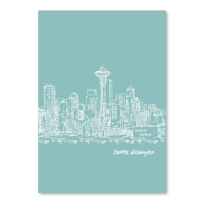 Americanflat 'Skyline Seattle 5' by Brooke Witt Graphic Art