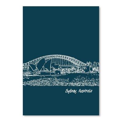 Americanflat 'Skyline Sydney 3' by Brooke Witt Graphic Art