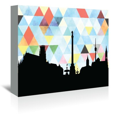 Americanflat 'Stuttgart_Triangle' by PaperFinch Graphic Art Wrapped on Canvas