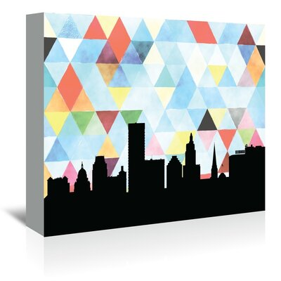 Americanflat 'Providence_Triangle' by PaperFinch Graphic Art Wrapped on Canvas