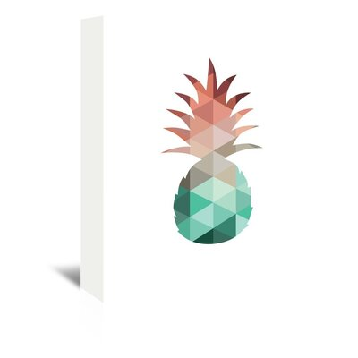 Americanflat 'Mint Coral Pineapple Up To' by Melinda Wood Graphic Art Wrapped on Canvas