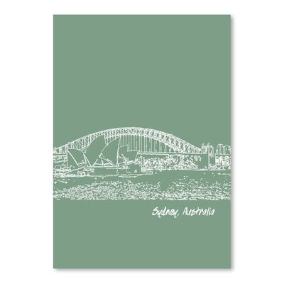 Americanflat 'Skyline Sydney 6' by Brooke Witt Graphic Art