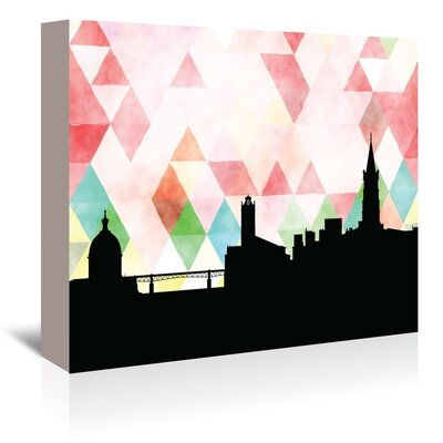 Americanflat 'Toulouse Triangle' by PaperFinch Graphic Art Wrapped on Canvas