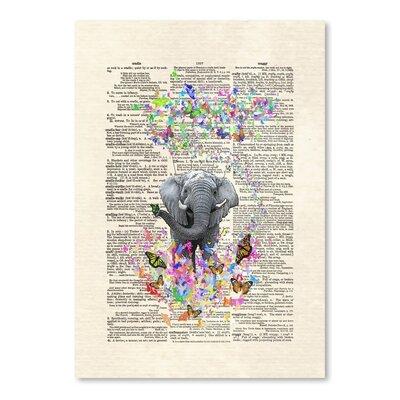 Americanflat 'Elephant Butterflies' by Matt Dinniman Graphic Art