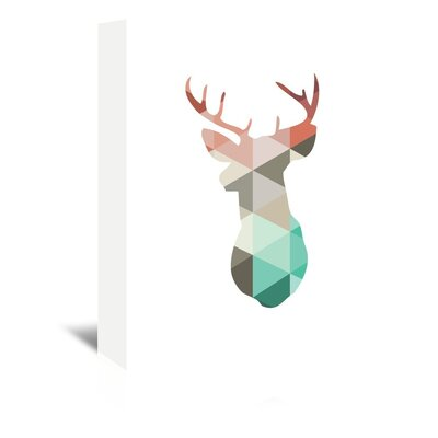 Americanflat 'Spring Deer Up To' by Melinda Wood Graphic Art Wrapped on Canvas