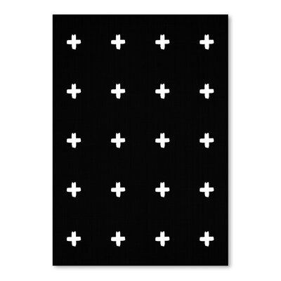 Americanflat 'Crosses On Black' by Lila and Lola Graphic Art