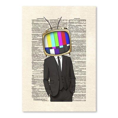 Americanflat 'Televisionhead' by Matt Dinniman Graphic Art