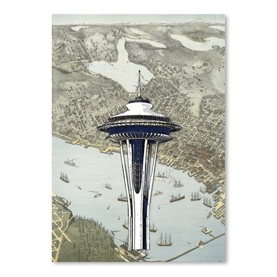 Americanflat 'Seattle 1' by Matt Dinniman Graphic Art