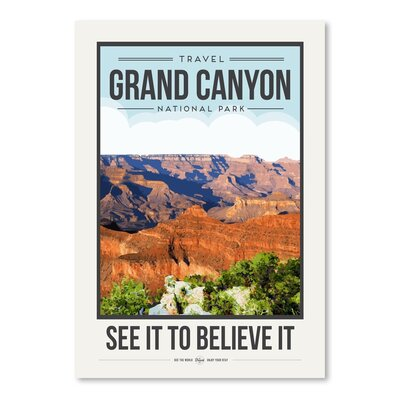 Americanflat 'Travel Poster Grand Canyon' by Brooke Witt Vintage Advertisement