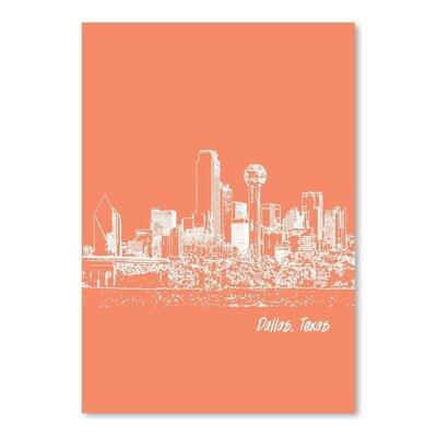 Americanflat 'Skyline Dallas 8' by Brooke Witt Graphic Art