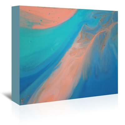 Americanflat 'Golden Marble' by Deb McNaughton Graphic Art Wrapped on Canvas