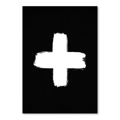 Americanflat 'Cross' by Lila and Lola Graphic Art in Black