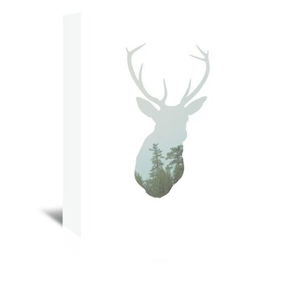 Americanflat 'Deer Trees Up To' by Melinda Wood Graphic Art Wrapped on Canvas