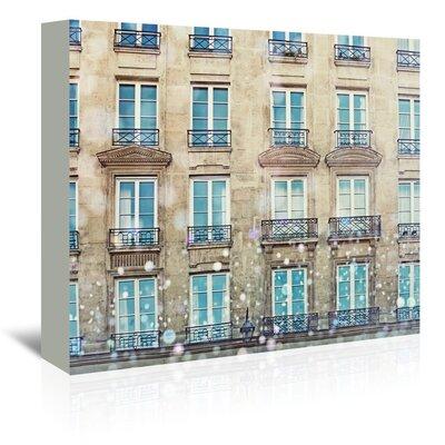 Americanflat 'Paris-Windows' by Mina Teslaru Graphic Art Wrapped on Canvas