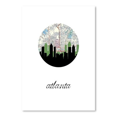 Americanflat 'Atlanta Map Skyline' by Paper Finch Graphic Art