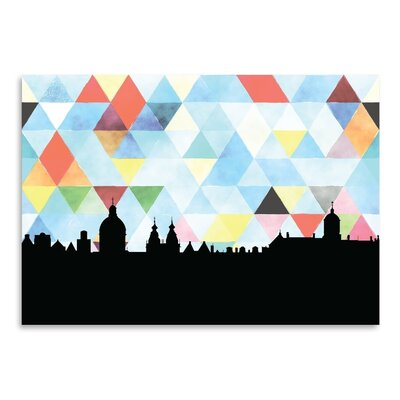 Americanflat 'Amsterdam Triangle' by Paper Finch Graphic Art