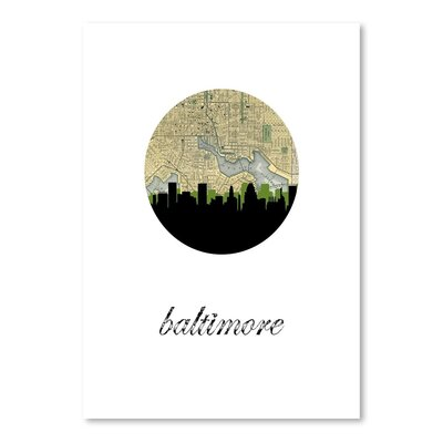 Americanflat 'Baltimore Map Skyline' by Paper Finch Graphic Art