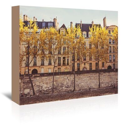 Americanflat 'Paris-Beach' by Mina Teslaru Photographic Print Wrapped on Canvas