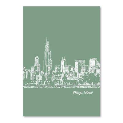 Americanflat 'Skyline Chicago 6' by Brooke Witt Graphic Art
