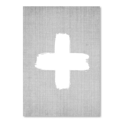 Americanflat 'Cross' by Lila and Lola Graphic Art in Grey
