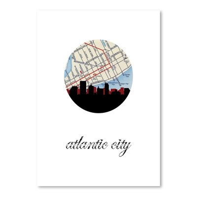 Americanflat 'Atlantic City Map Skyline' by Paper Finch Graphic Art