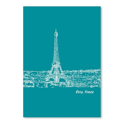 Americanflat 'Skyline Paris 4' by Brooke Witt Graphic Art
