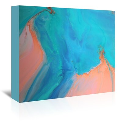 Americanflat 'Gold & Aqua Marble' by Deb McNaughton Graphic Art Wrapped on Canvas