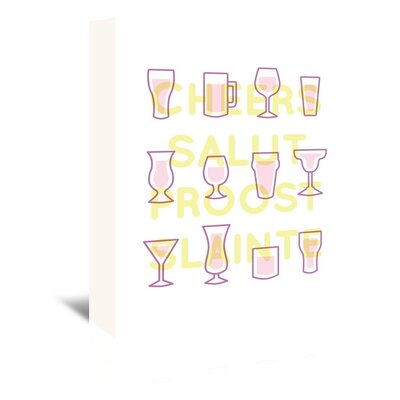Americanflat 'Alcohol Cheers' by The Glass Mountain Graphic Art Wrapped on Canvas