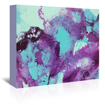 Americanflat Purple Bubbles 2' by Deb McNaughton Art Print Wrapped on Canvas