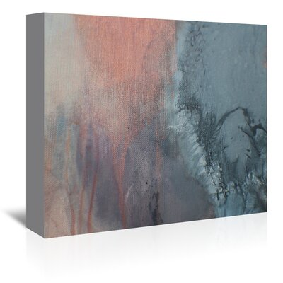 Americanflat 'Grey & Peach Drips' by Deb McNaughton Art Print Wrapped on Canvas