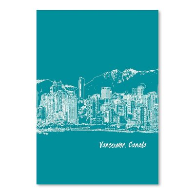 Americanflat 'Skyline Vancouver 4' by Brooke Witt Graphic Art