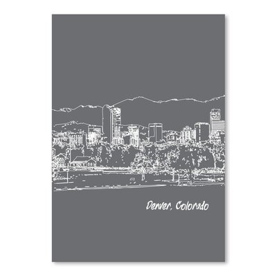 Americanflat 'Skyline Denver 1' by Brooke Witt Graphic Art