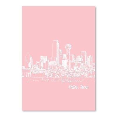 Americanflat 'Skyline Dallas 9' by Brooke Witt Graphic Art