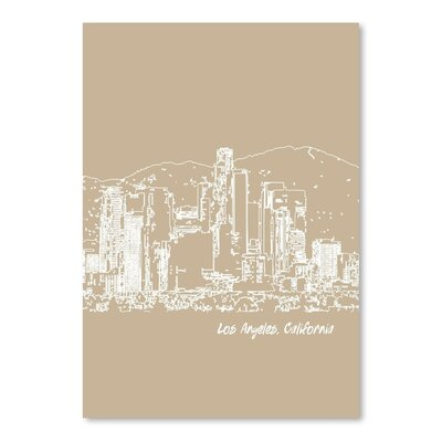 Americanflat 'Skyline Los Angeles 7' by Brooke Witt Graphic Art