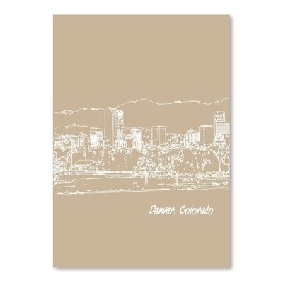 Americanflat 'Skyline Denver 7' by Brooke Witt Graphic Art