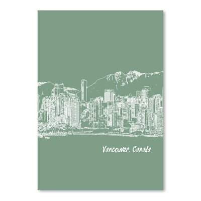 Americanflat 'Skyline Vancouver 6' by Brooke Witt Graphic Art