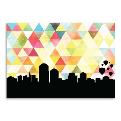Americanflat 'Albuquerque Triangle' by Paper Finch Graphic Art