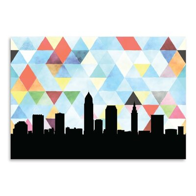 Americanflat 'Cleveland Triangle' by Paper Finch Graphic Art