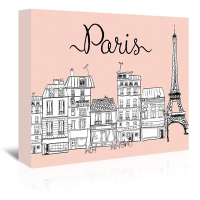 Americanflat 'Paris' Graphic Art Wrapped on Canvas