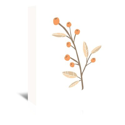 Americanflat 'Berrybranch' by The Glass Mountain Graphic Art Wrapped on Canvas