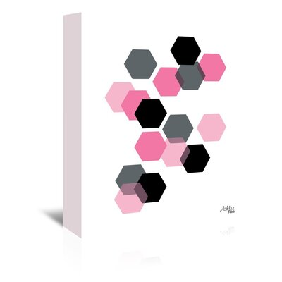 Americanflat Geometric Hexagon' by Ashlee Rae Graphic Art on Canvas