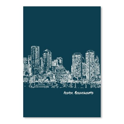 Americanflat 'Skyline Boston 3' by Brooke Witt Graphic Art