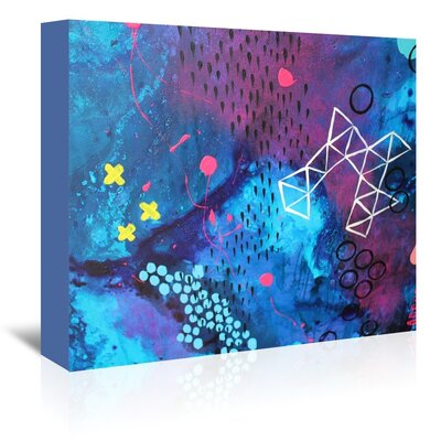 Americanflat X Marks the Spot' by Deb McNaughton Art Print Wrapped on Canvas