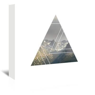 Americanflat 'Mountains_Triangles_' by The Glass Mountain Graphic Art Wrapped on Canvas