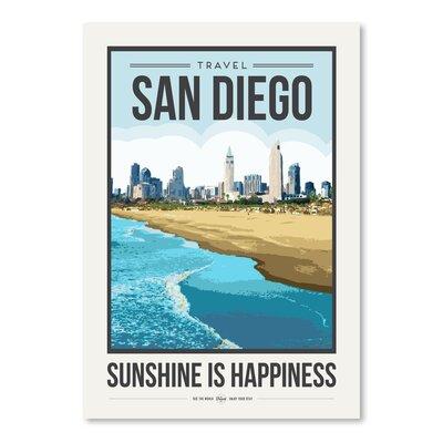 Americanflat 'Travel Poster San Diego' by Brooke Witt Vintage Advertisement