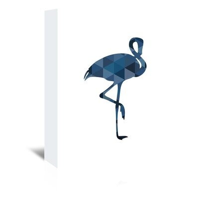 Americanflat 'Flamingo Up To' by Melinda Wood Graphic Art Wrapped on Canvas