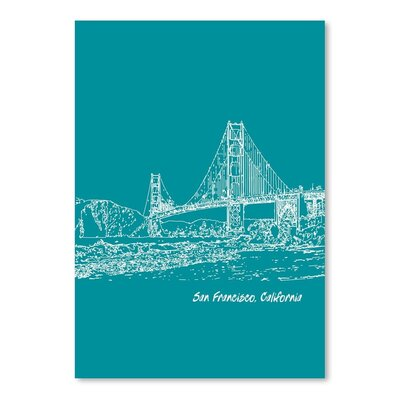 Americanflat 'Skyline San Francisco 4' by Brooke Witt Graphic Art