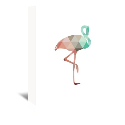 Americanflat 'Mint Coral Flamingo Up To' by Melinda Wood Graphic Art Wrapped on Canvas