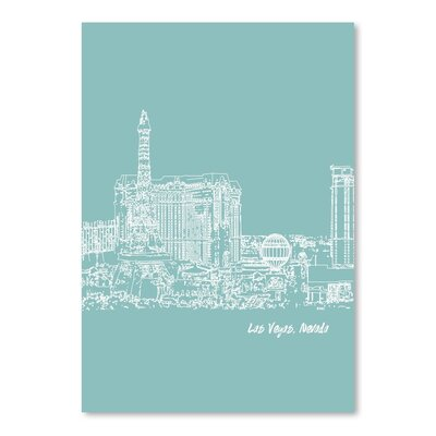 Americanflat 'Skyline Las Vegas 5' by Brooke Witt Graphic Art