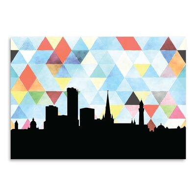 Americanflat 'Birmingham UK Triangle' by Paper Finch Graphic Art